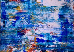 SOLD - Full Image - Island coast (Tide Pools) (2019) Abstract Acrylic painting by Nestor Toro