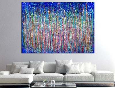SOLD - A closer look (Shimmering paradise) by Nestor Toro (2019) Abstract Acrylic painting by Nestor Toro