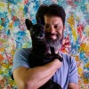"""Artist Nestor Toro with new work - Emotional Puzzle - from his """"A Closer Look"""" series"""