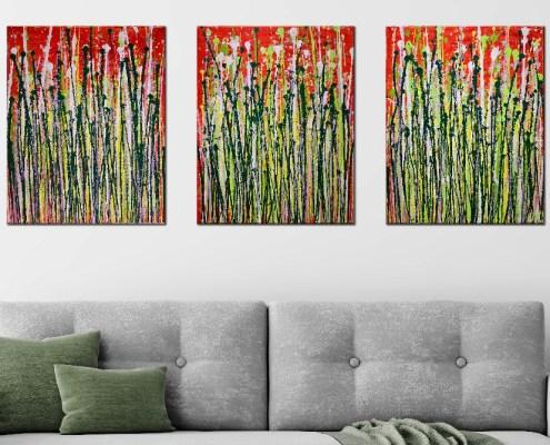Daydream panorama 1 - Triptych by Nestor Toro - SOLD