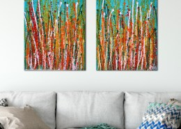 SOLD - Interrupted Panorama 9 by Nestor Toro - Diptych