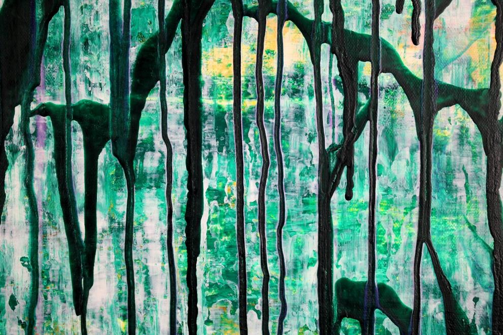 Detail - Green Gravity by Nestor Toro in Los Angeles 2019