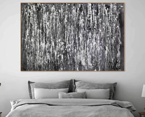 Sold abstract art - December by painter Nestor Toro