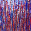 FULL CANVAS - Red and blue reflections by Nestor Toro (2019) - SOLD ABSTRACT Acrylic painting - Los Angeles