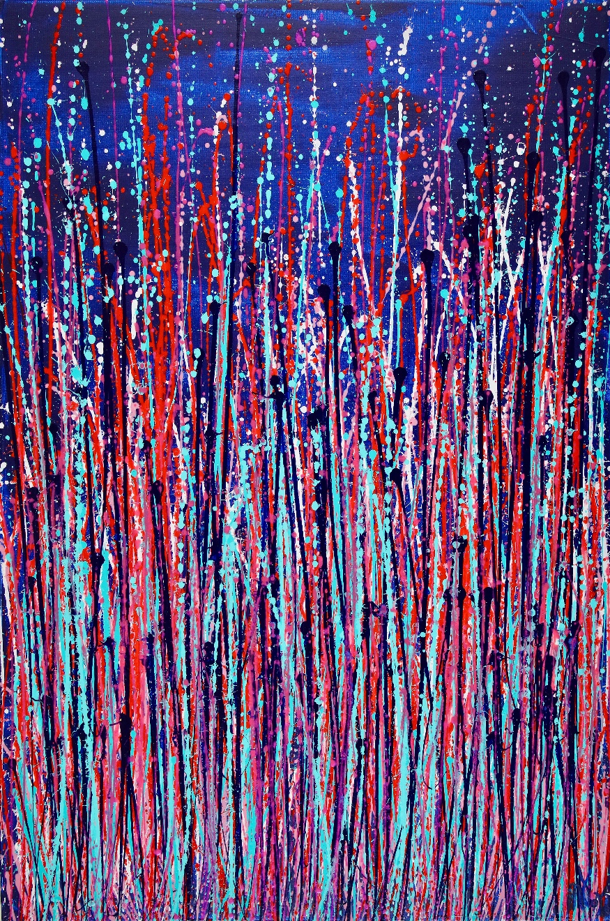FULL CANVAS - Drizzles In Blue Space by Nestor Toro