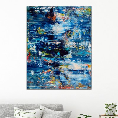 SOLD - Azul infinito 2 (Tide pools) by Nestor Toro (2019) Los Angeles