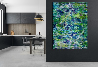 SOLD - Terra Verde ( forest infinity) (2019) Abstract Acrylic painting by Nestor Toro