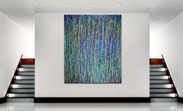 Room View - Blue Satin Drizzles (Satin Spectra) by Nestor Toro