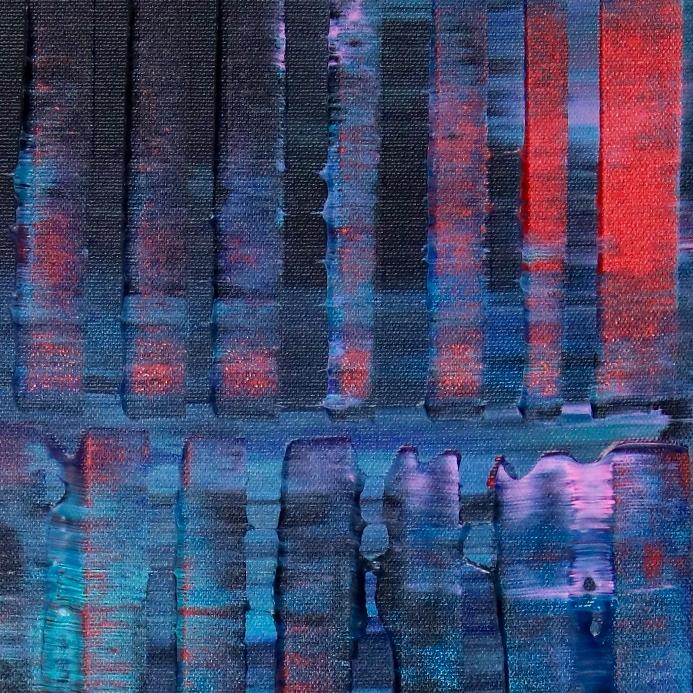 Detail - Nighttime Shadows and Lights (22x28) by Nestor Toro 2019