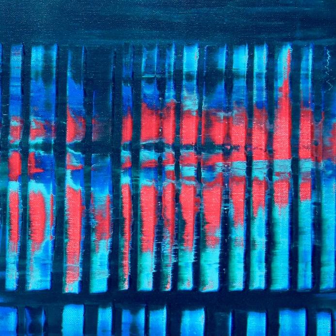 Red Vortex and Blue Lights by Nestor Toro in 2019
