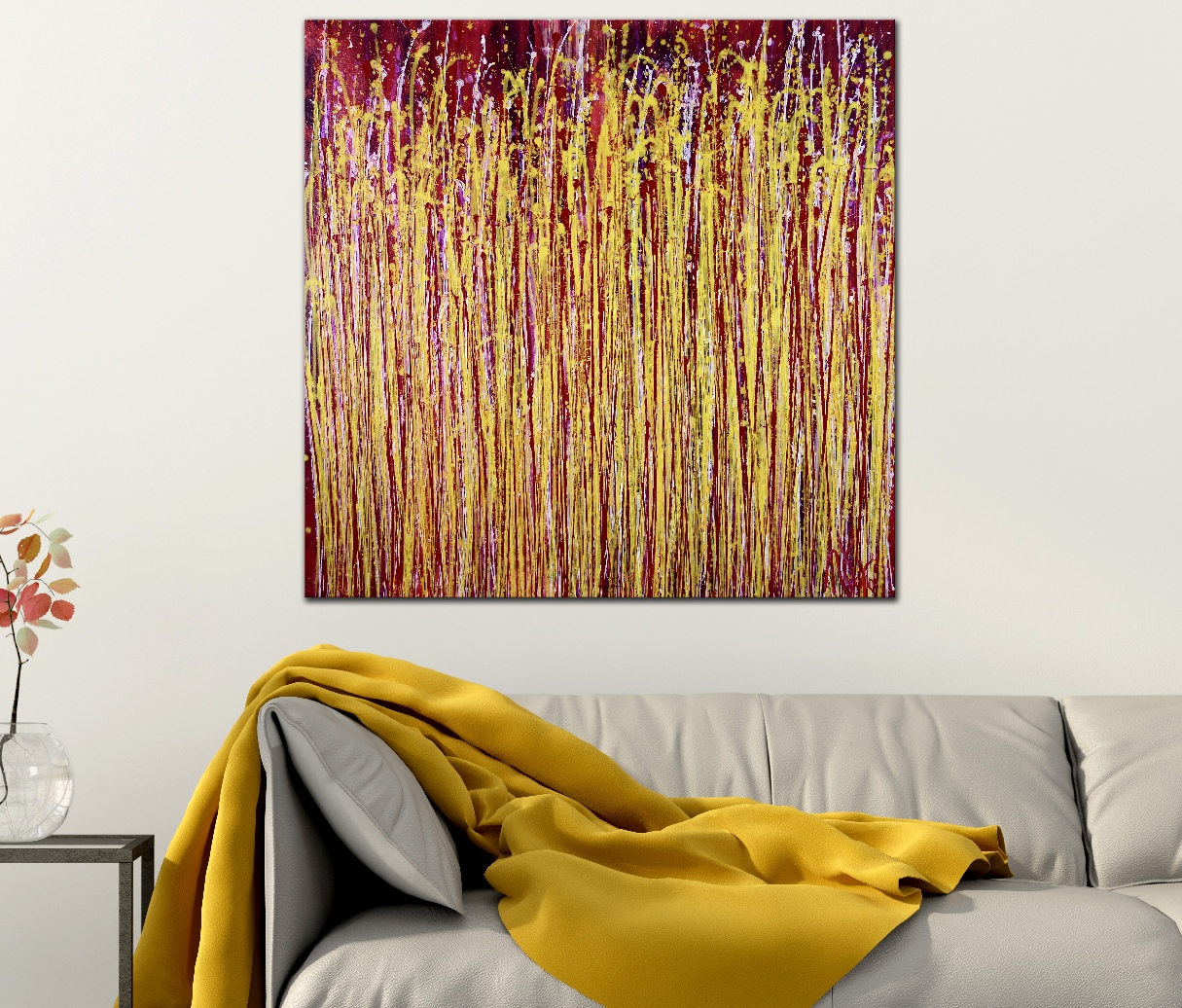 Room View - A Delicate Chaos (Metallic Spectra) by Nestor Toro