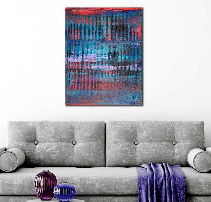 Room View - Nighttime Shadows and Lights (22x28) by Nestor Toro 2019