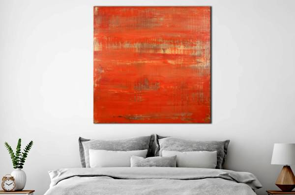 SOLD - Sunset paradise 3 (Metallic Orange Spectra) Painting by Nestor Toro