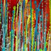 Detail - Daring natural synergy | Energetic abstract painting by Nestor Toro (2020) - SOLD