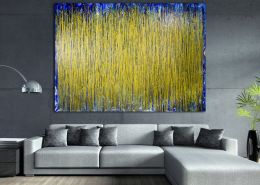 Room View - Thunder silhouettes (Golden Spectra) by Nestor Toro 2020 (SOLD)