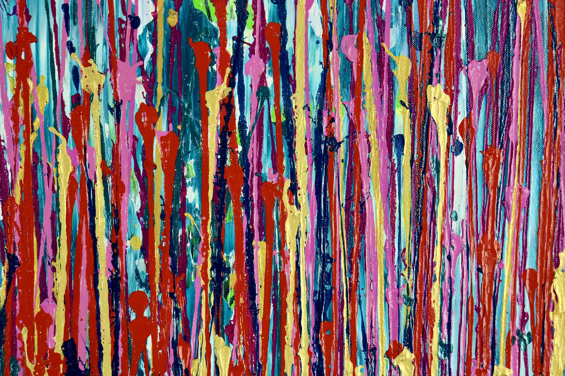Detail - Awakening Garden 5 (2020) Abstract painting by Nestor Toro