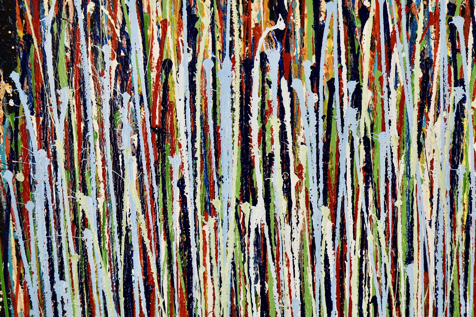 A sinful garden (anochecer) 2 | Inspired by nature abstract (2020) Acrylic painting by Nestor Toro