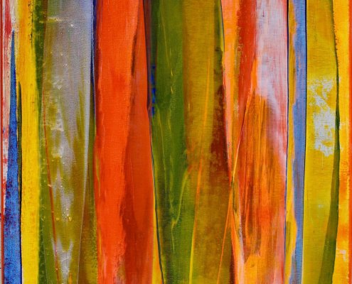 SOLD - Orange Flares 1 by Nestor Toro