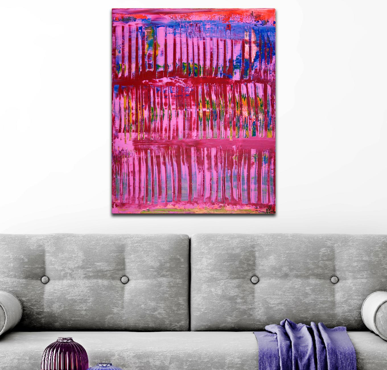 Pink Takeover (Blue Lights) 2020 by Nestor Toro