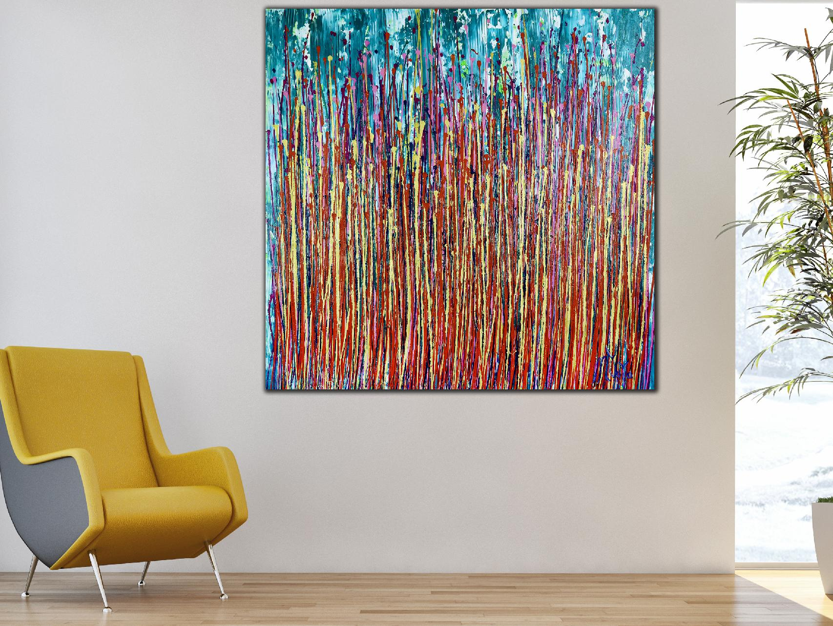 Awakening Garden 5 (2020) Edit Abstract painting by Nestor Toro