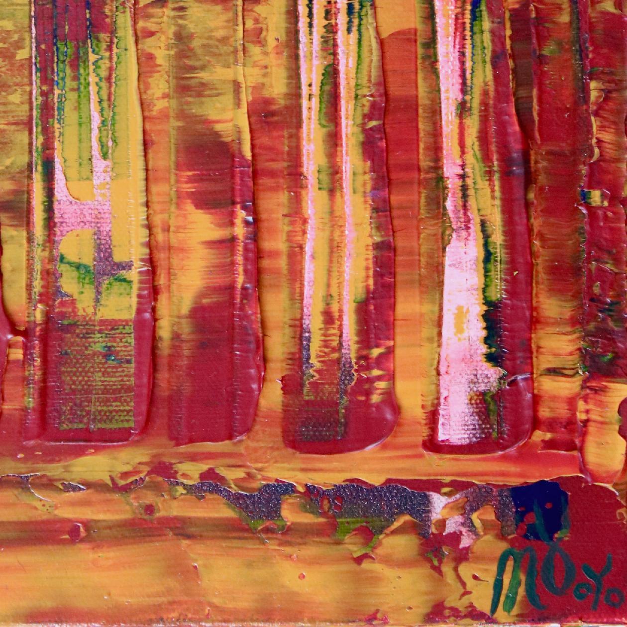 Signature - Sunset intrusions (Orange Sky) 2 (2020) Abstract Acrylic painting by Nestor Toro
