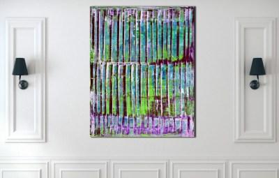 Turquoise Panorama (Purple Lights) 2020 by Nestor Toro