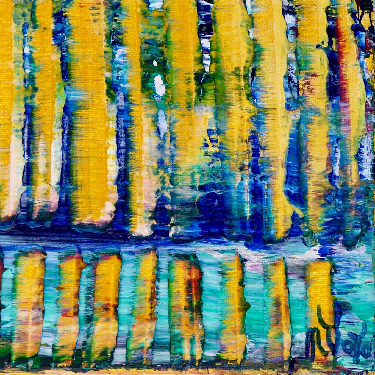 SOLD - Blinding Yellow Lights (2020) by Nestor Toro