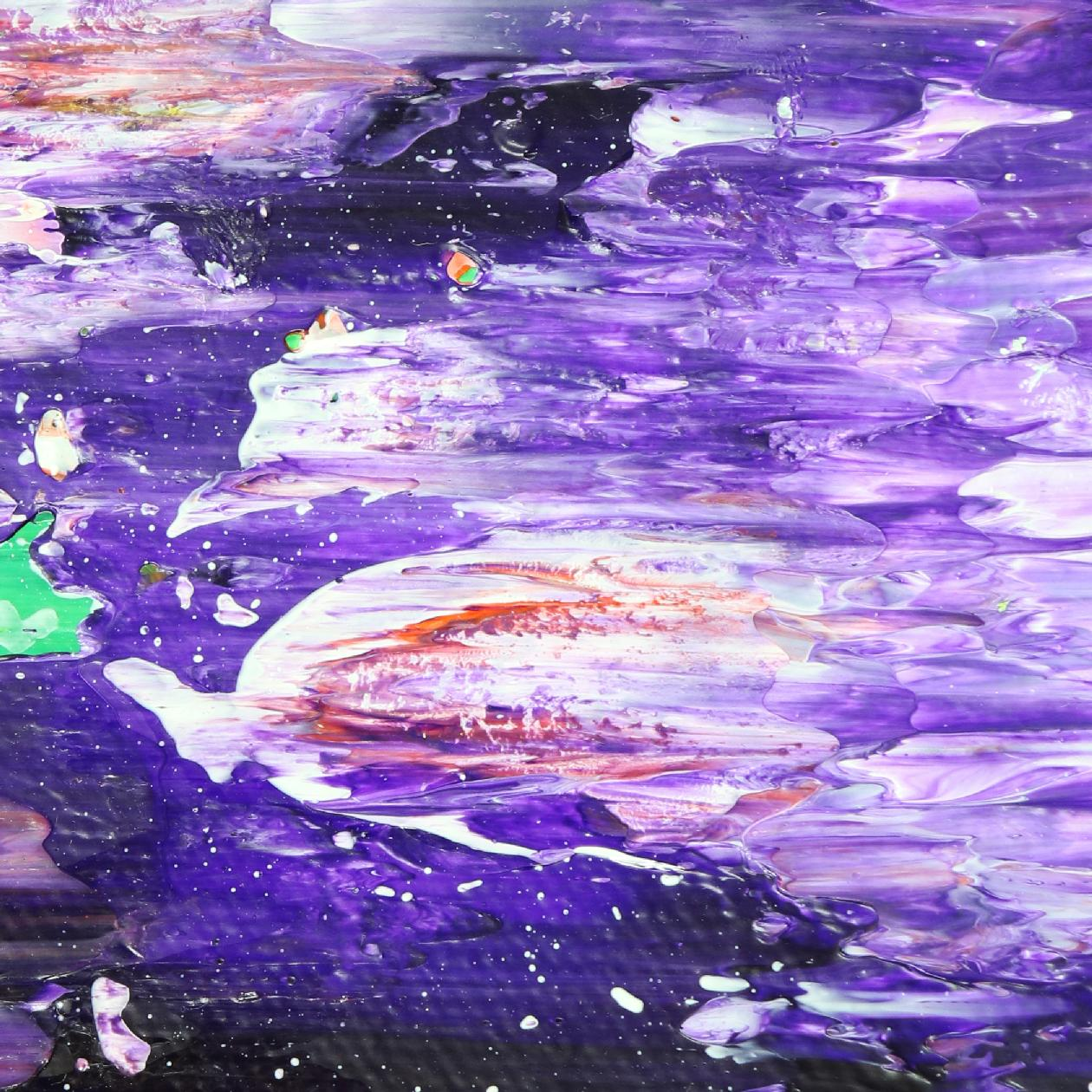 Mystery Garden ( In scarlet, purple and green) (2020) Abstract painting by Nestor Toro