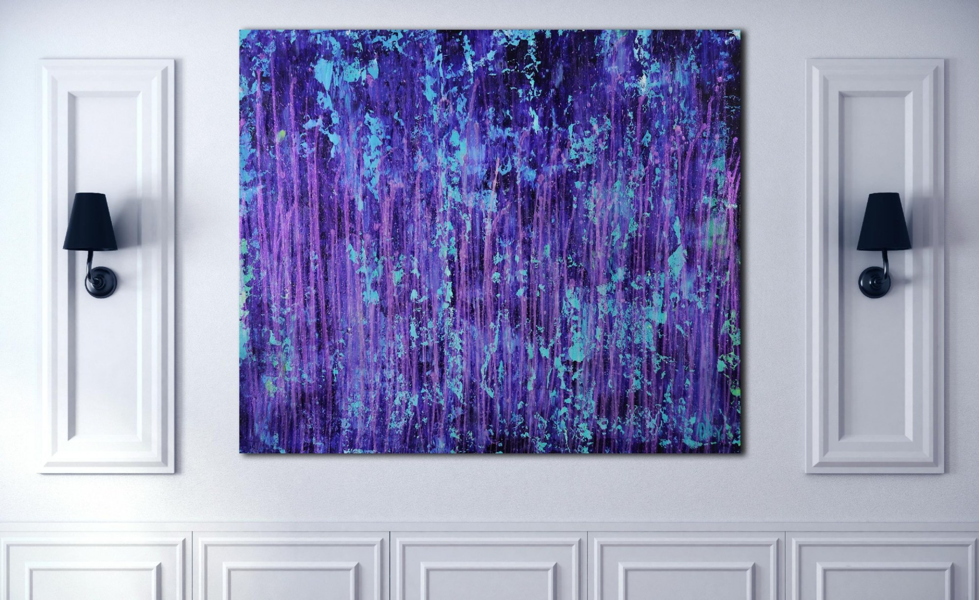 Room View - Torrential Purple Storm (A Closer Look) #1 (2020) by Nestor Toro