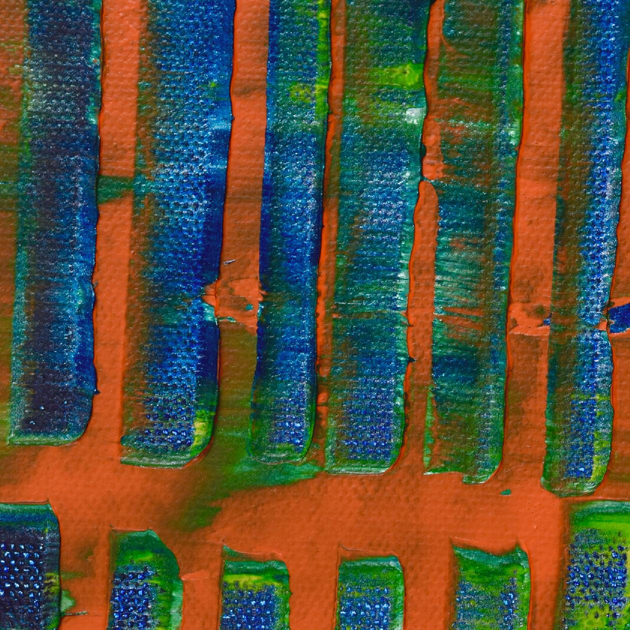 Detail - Orange Panorama (Blue Reflections) (2020) by Nestor Toro