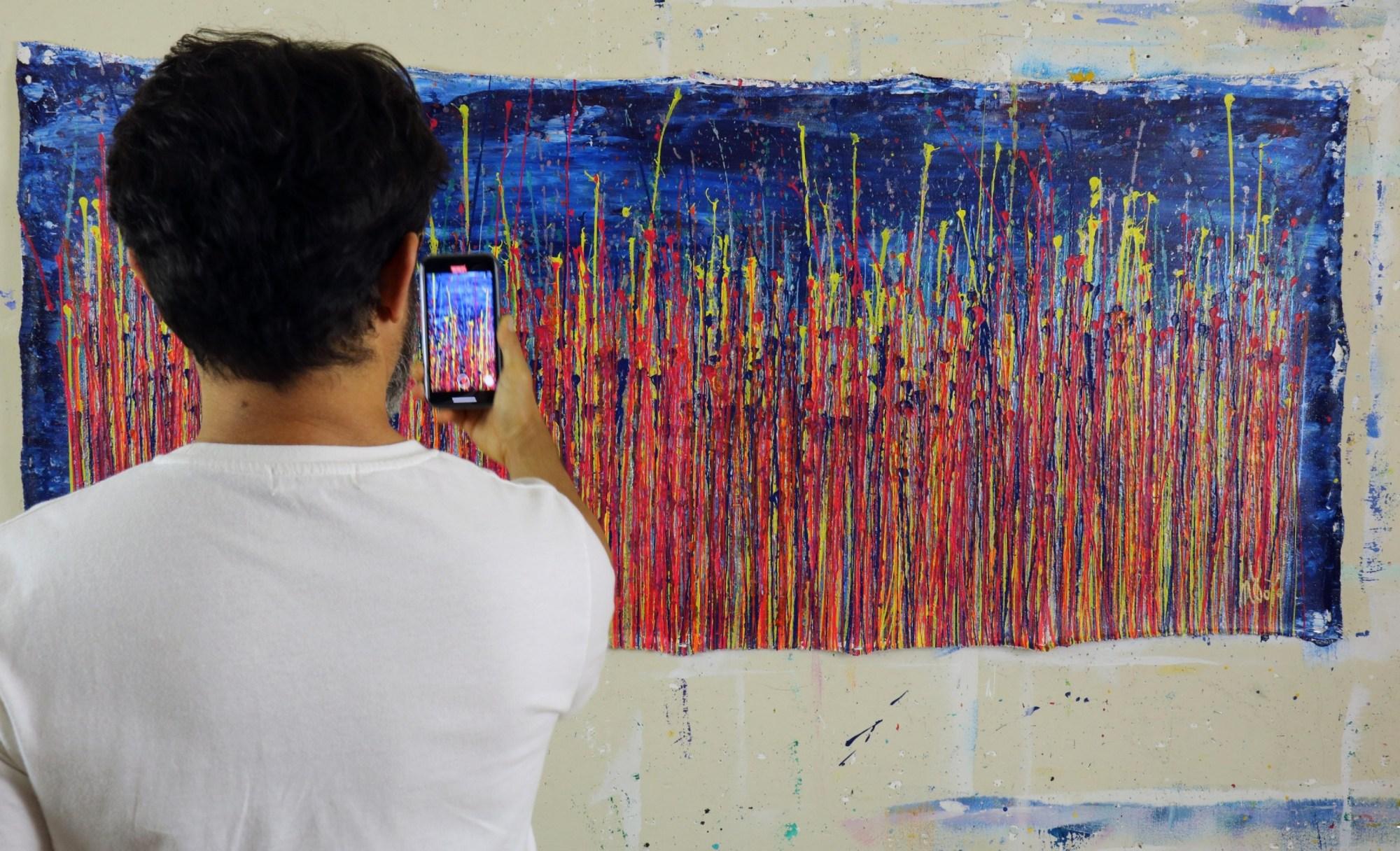 Artist Nestor Toro and his work - Prophecy Garden 2 (2020)