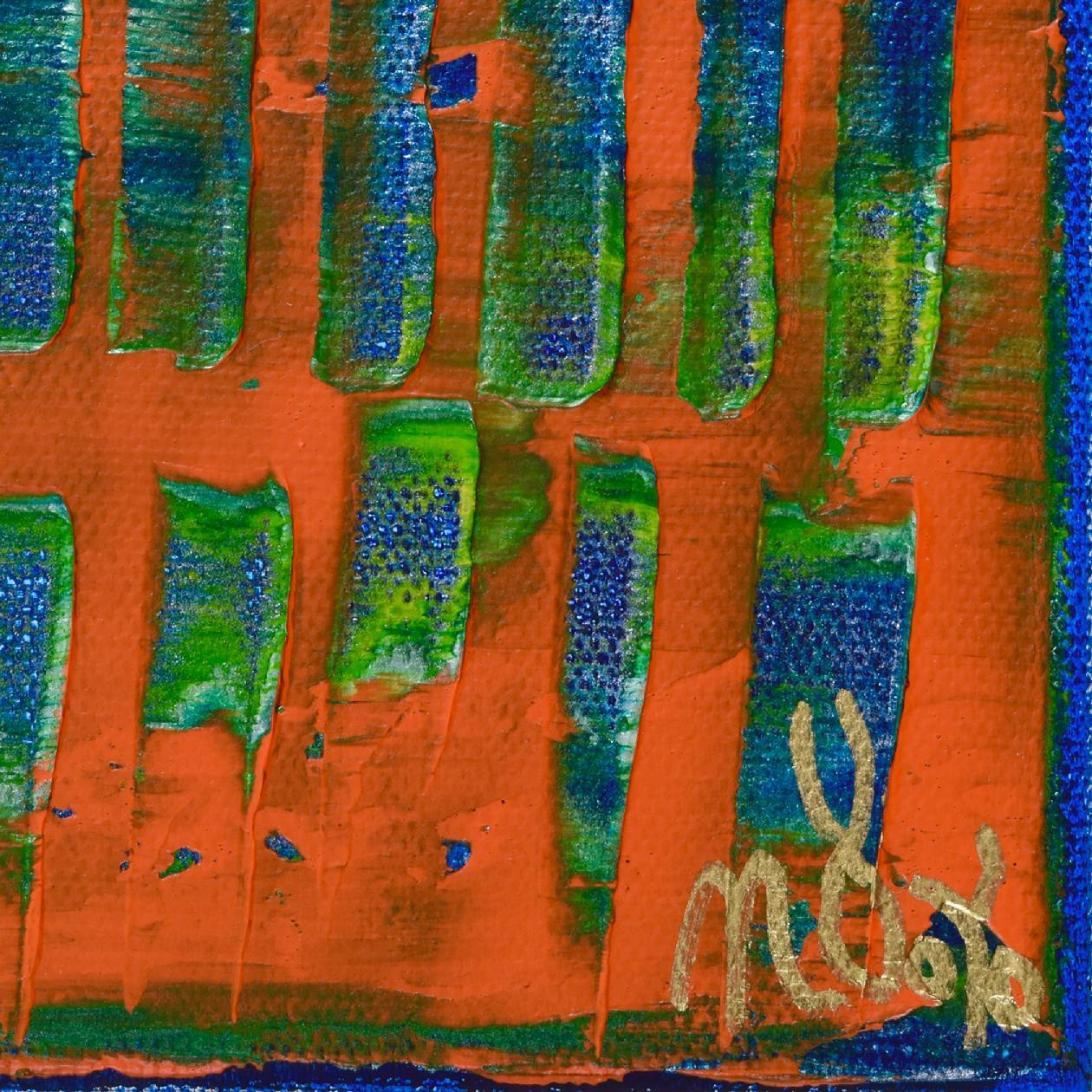 Signature - Orange Panorama (Blue Reflections) (2020) by Nestor Toro