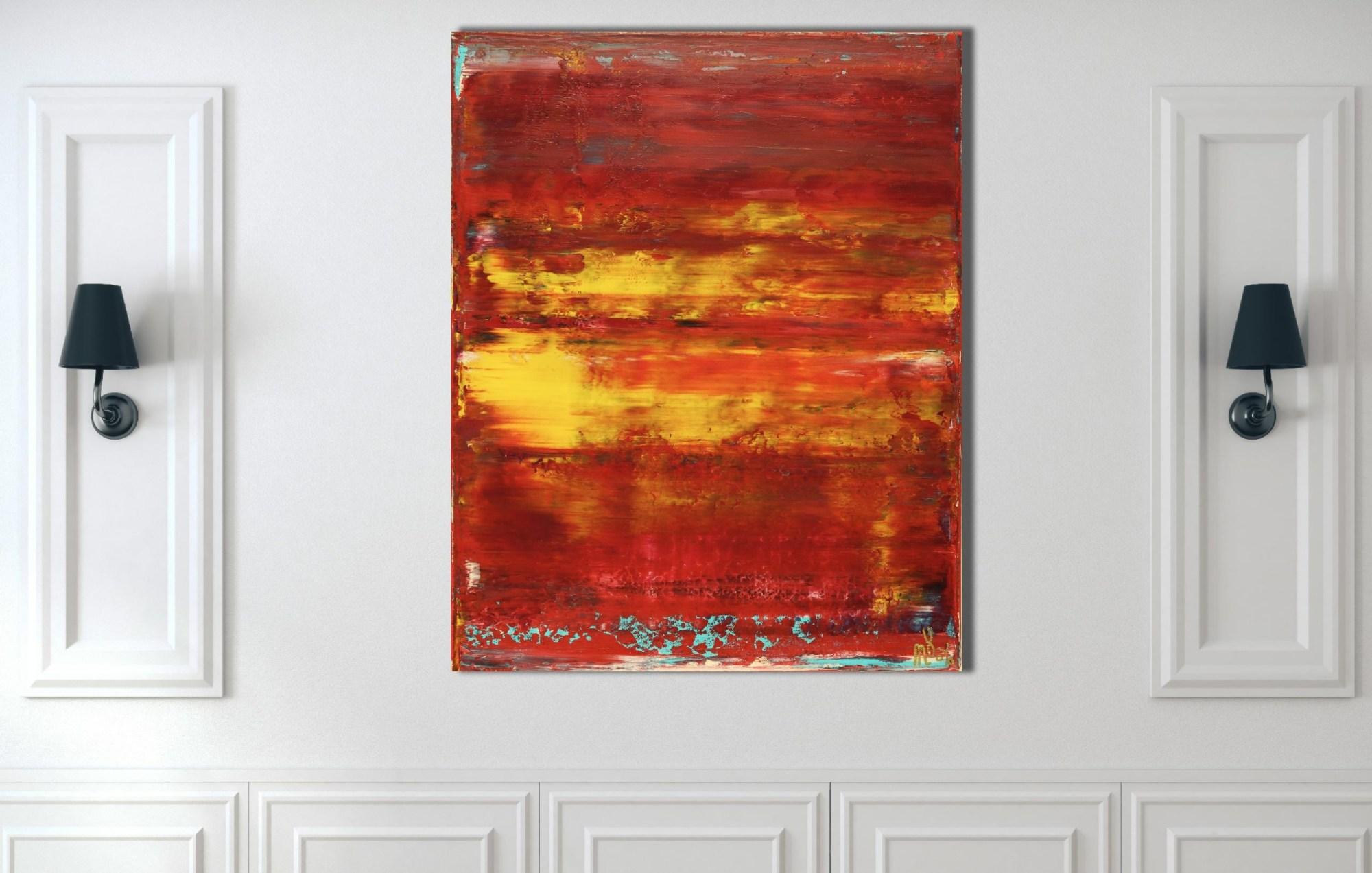 Room View - Rojo Infinito (Fiery Spectra) #2 (2020) by Nestor Toro