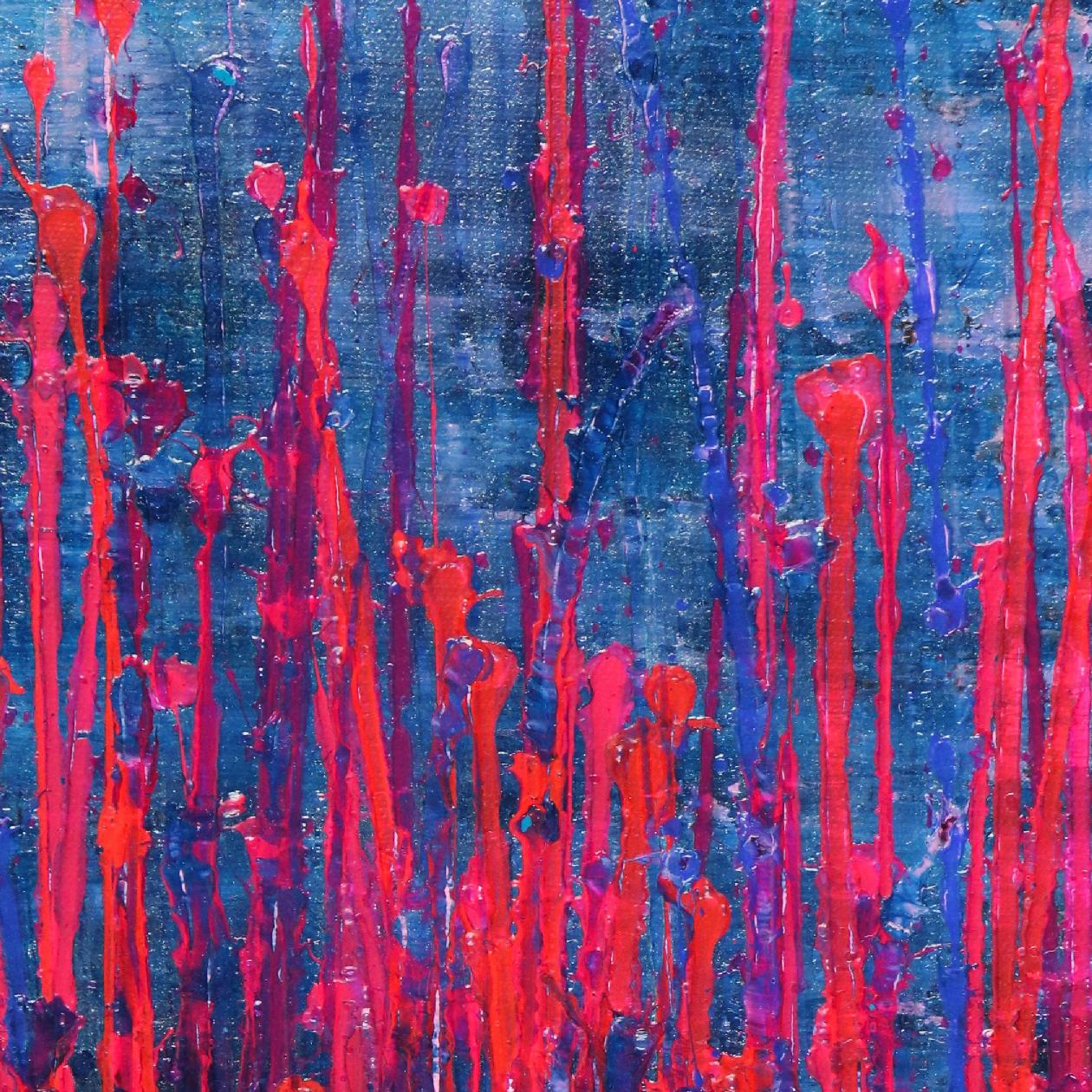 Pink Takeover (Over Silver Blue) (2020) by Nestor Toro