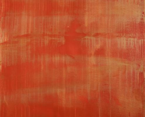 SOLD - Sunset paradise 7 (Metallic Orange Spectra) (2020) by Nestor Toro