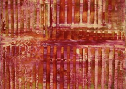 Sold Abstract Art - Sunset intrusions (Orange Sky) by Nestor Toro