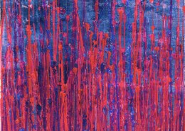 SOLD - Pink Takeover (Over Silver Blue) (2020) by Nestor Toro