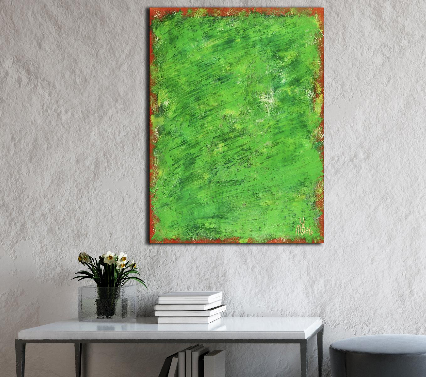 A Green Oasis - Abstract on paper (2020)