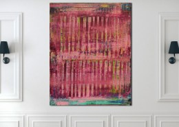 SOLD - Pink spectra and lights 2 (2020) by Nestor Toro