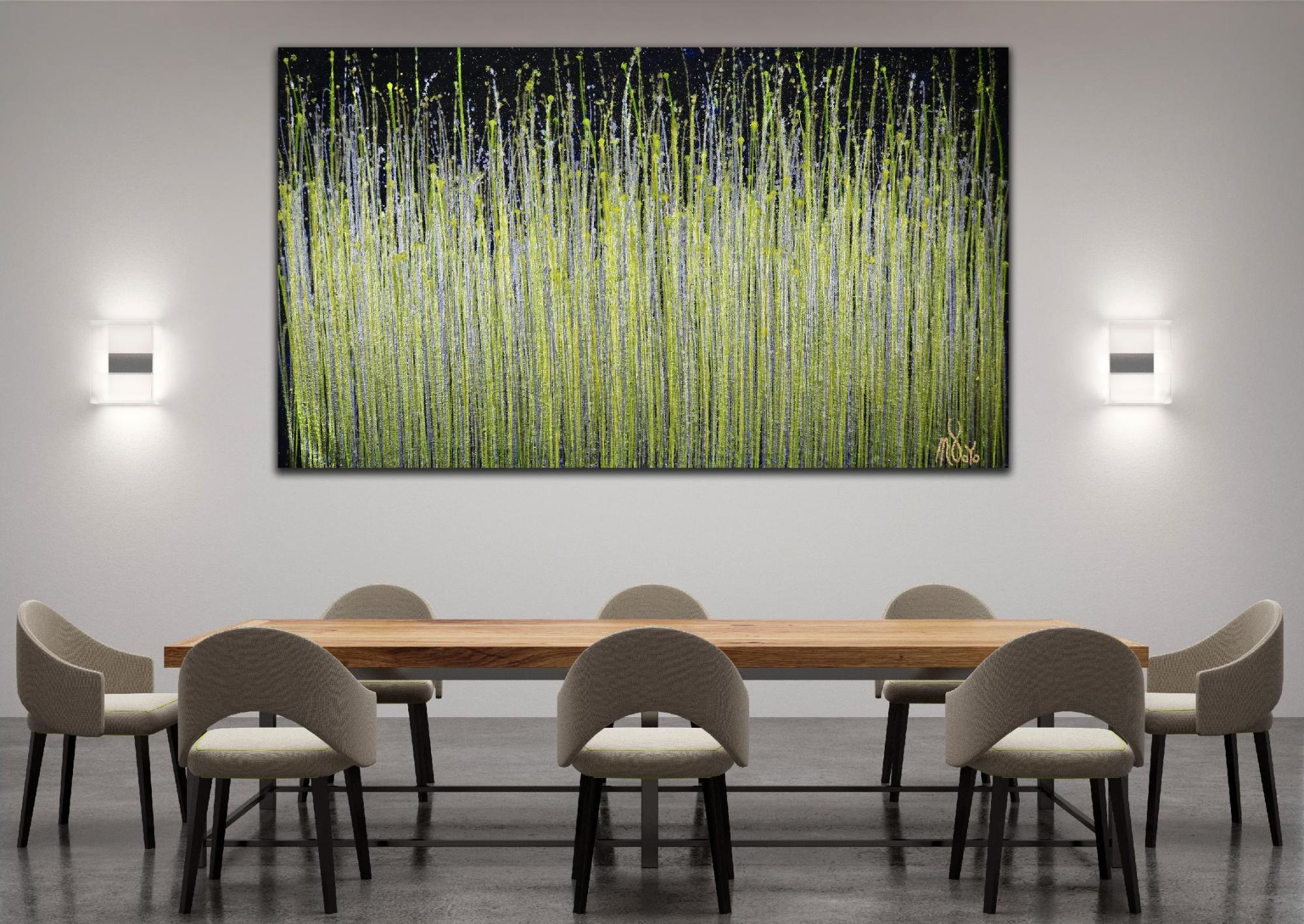 Room View - A closer look (Luminance garden) 3 (2020) by Nestor Toro