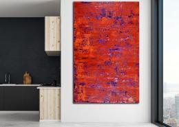 SOLD - Rojo infinito (Fiery spectra) 5 (2020) by Nestor Toro