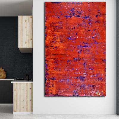 Rojo infinito (Fiery spectra) 5 (2020) by Nestor Toro