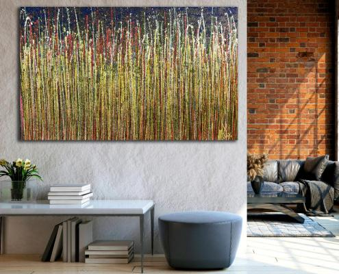 SOLD - Room View - A closer look (Luminance garden) 2 Painting by Nestor Toro