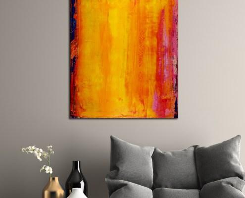 SOLD - Ablaze Orange 1 (2019) by Nestor Toro