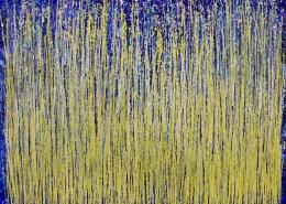 SOLD - Full Canvas - Thunder silhouettes (Golden Spectra) 2 (2020) by Nestor Toro