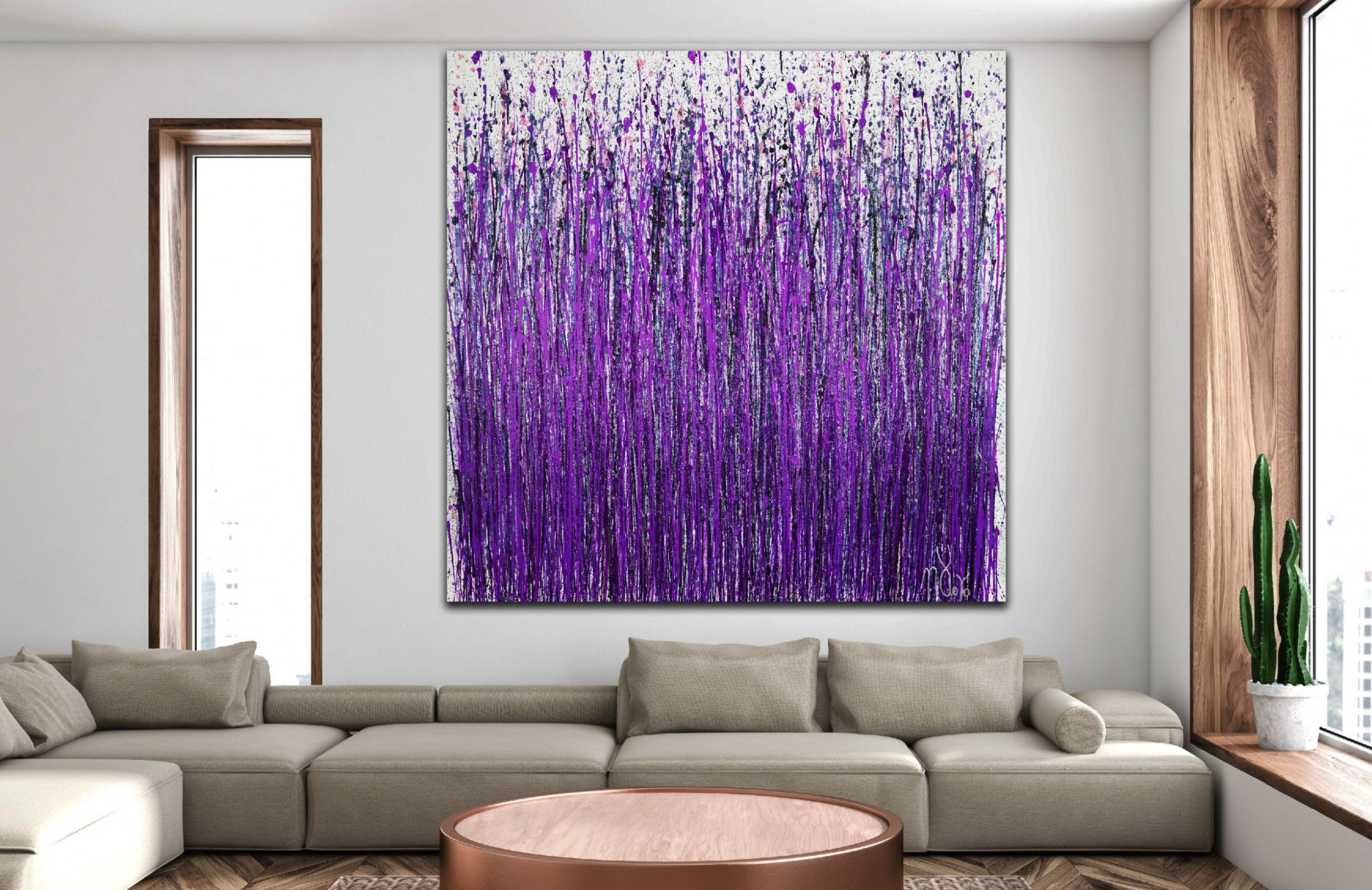 Room-1 Full-canvas-Provence (Lavender Imagery) (2020) by Nestor Toro