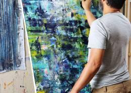 Artist Nestor Toro and his work - Deep Forest Secrets (2020) / SOLD