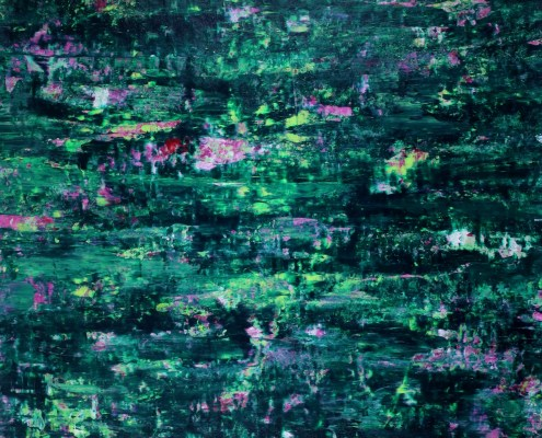 SOLD - Green Forest Frenzy (2020) by Nestor Toro