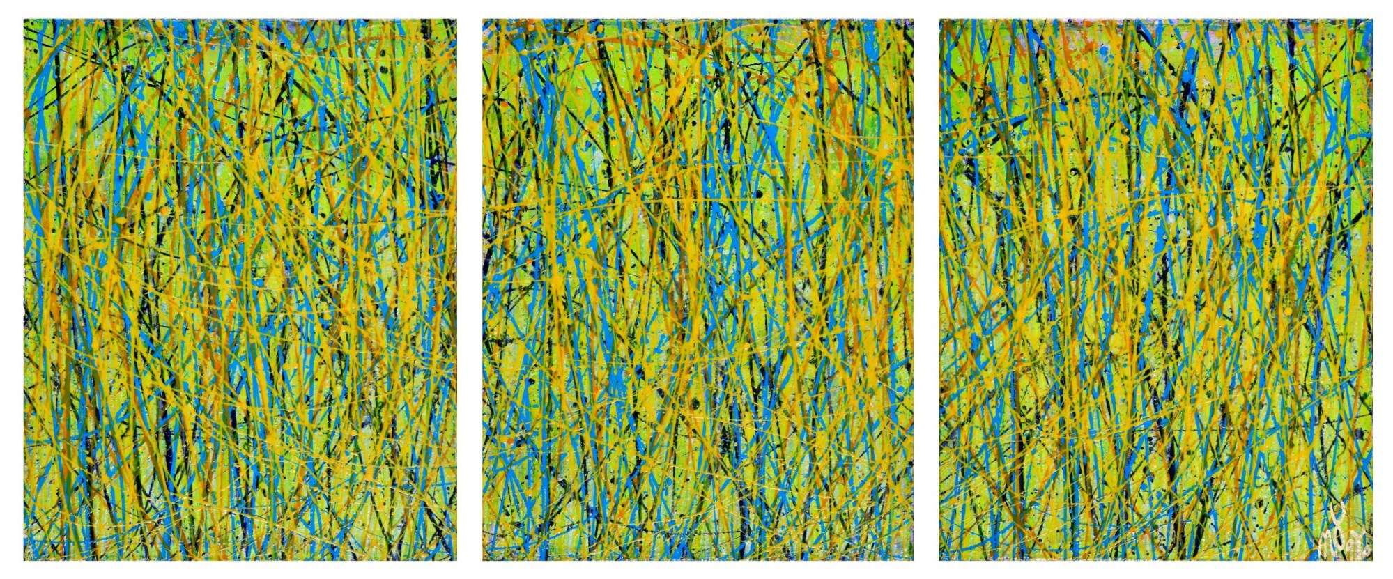 Close and Afar - Triptych (2020) by Nestor Toro