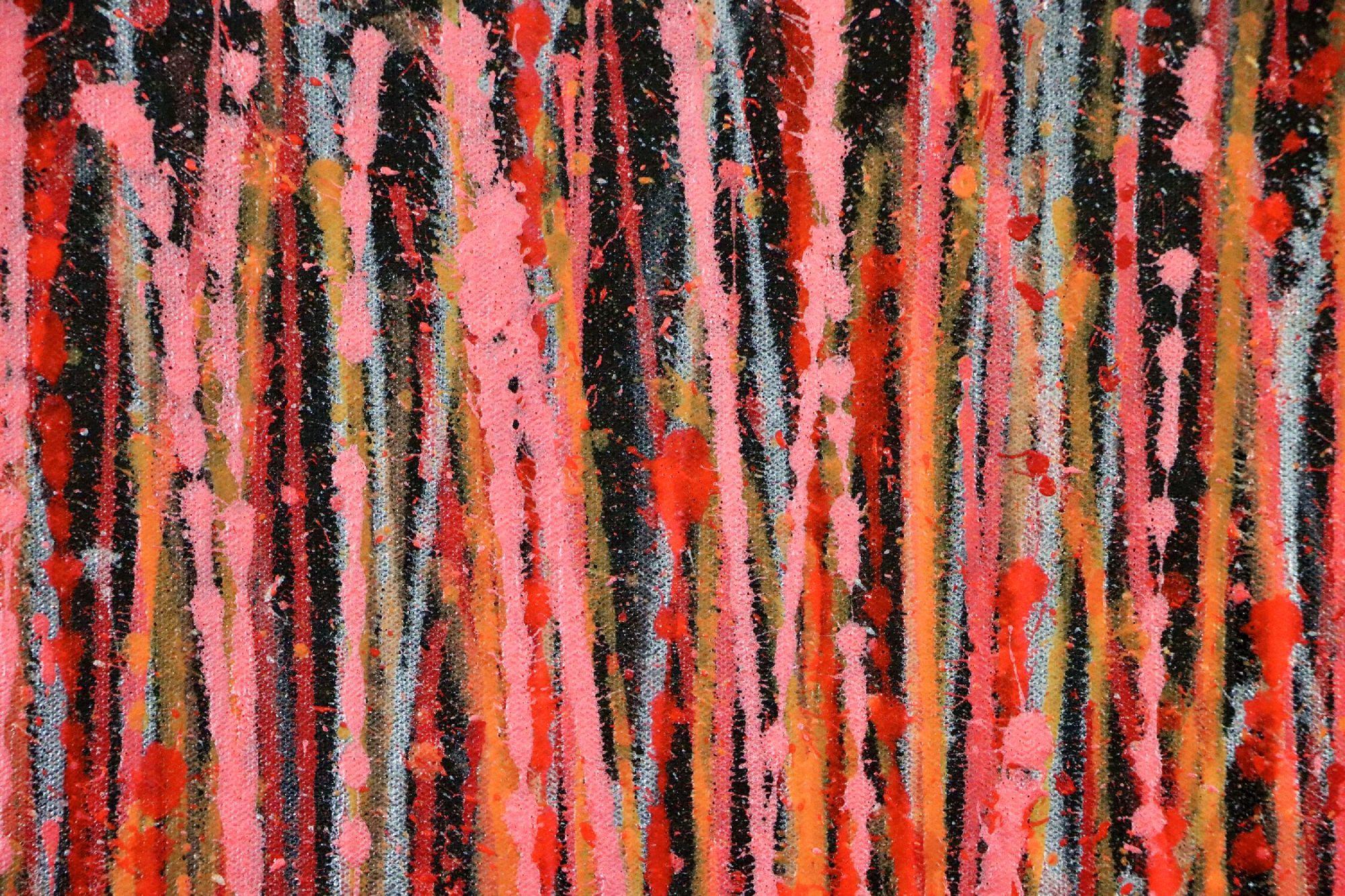 SOLD - Detail - Carmin Spectra ( Florescent Garden) (2020) by Nestor Toro